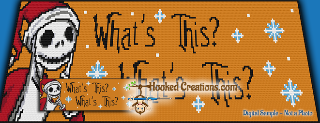 NBC-CAL: Add On Banner - What's This SC (Single Crochet) Graphghan Crochet Pattern - PDF Download