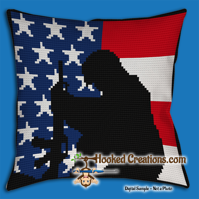 Single Soldier SC (Single Crochet) Throw Pillow Graphghan Crochet Pattern - PDF Download