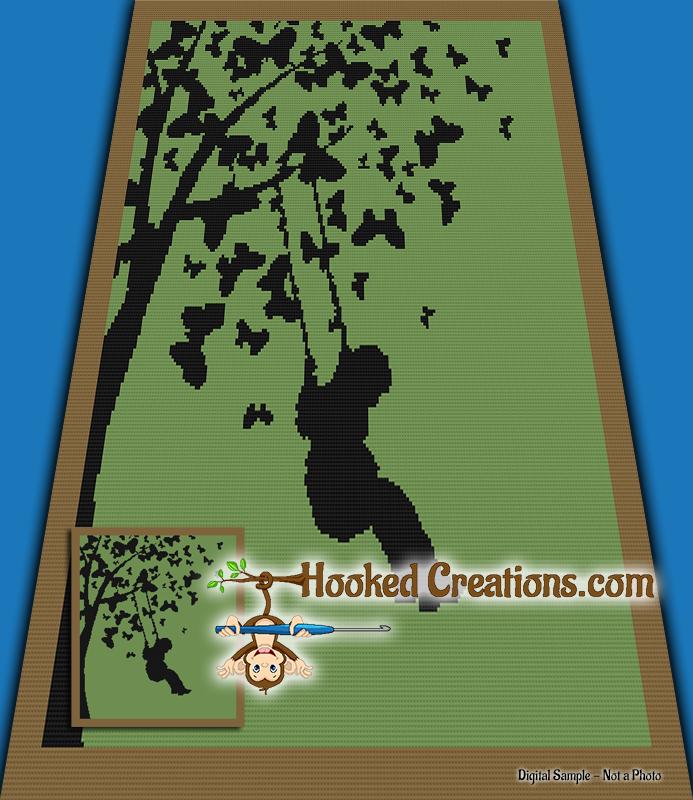Tree Swing Sc Throw Blanket Crochet Pattern - PDF Download