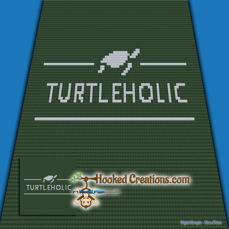 Turtleholic C2C (Corner to Corner) Throw Blanket Graphghan Crochet Pattern - PDF Download