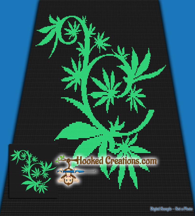 Mini C2c Pattern: Weed Maze Mini C2C Queen Sized Blanket Crochet Pattern