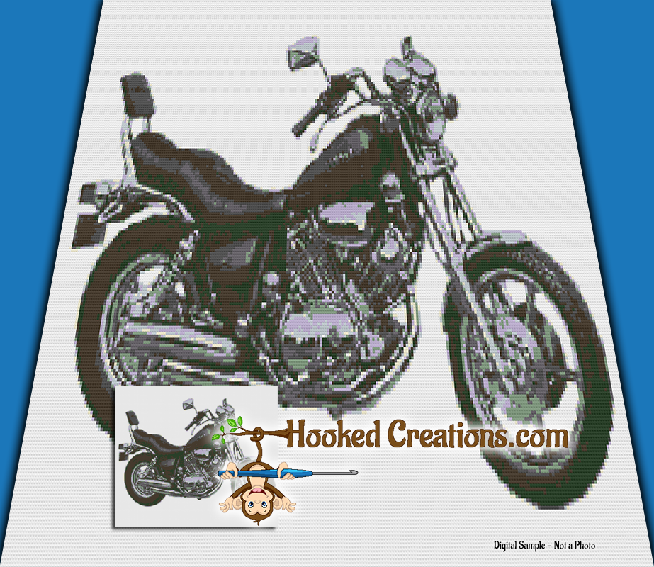 Yamaha SC (Single Crochet) Throw Blanket Graphghan Crochet Pattern - PDF Download