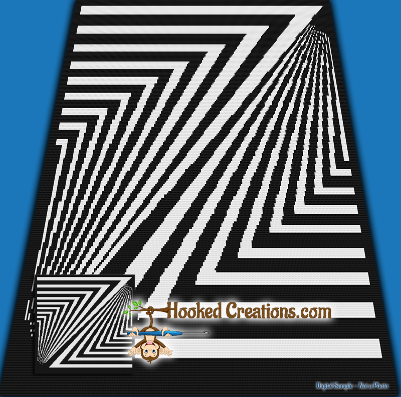 Zebra Crossing Sc Throw Sized Blanket Crochet Pattern Pdf Download