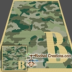 Camouflage Alphabet - B SC (Single Crochet) Baby Blanket Graphghan Crochet Pattern