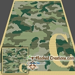 Camouflage Alphabet - C SC (Single Crochet) Baby Blanket Graphghan Crochet Pattern