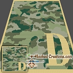 Camouflage Alphabet - D SC (Single Crochet) Baby Blanket Crochet Pattern