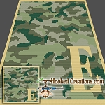 Camouflage Alphabet - E SC (Single Crochet) Baby Blanket Graphghan Crochet Pattern