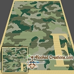 Camouflage Alphabet - F SC (Single Crochet) Baby Blanket Graphghan Crochet Pattern - PDF Download