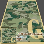 Camouflage Alphabet - G SC (Single Crochet) Baby Blanket Graphghan Crochet Pattern - PDF Download
