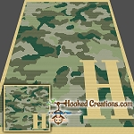 Camouflage Alphabet - H SC (Single Crochet) Baby Blanket Graphghan Crochet Pattern - PDF Download