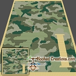 Camouflage Alphabet - I SC (Single Crochet) Baby Blanket Graphghan Crochet Pattern - PDF Download