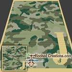 Camouflage Alphabet - J SC (Single Crochet) Baby Blanket Graphghan Crochet Pattern - PDF Download
