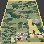 Camouflage Alphabet - K SC (Single Crochet) Baby Blanket Graphghan Crochet Pattern - PDF Download