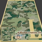 Camouflage Alphabet - L SC (Single Crochet) Baby Blanket Graphghan Crochet Pattern - PDF Download