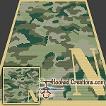 Camouflage Alphabet - N SC (Single Crochet) Baby Blanket Graphghan Crochet Pattern - PDF Download