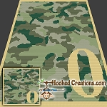 Camouflage Alphabet - O SC (Single Crochet) Baby Blanket Graphghan Crochet Pattern - PDF Download
