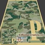 Camouflage Alphabet - P SC (Single Crochet) Baby Blanket Graphghan Crochet Pattern - PDF Download