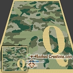 Camouflage Alphabet - Q SC (Single Crochet) Baby Blanket Graphghan Crochet Pattern - PDF Download