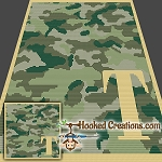Camouflage Alphabet - T SC (Single Crochet) Baby Blanket Graphghan Crochet Pattern - PDF Download