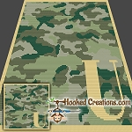 Camouflage Alphabet - U SC (Single Crochet) Baby Blanket Graphghan Crochet Pattern - PDF Download