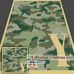 Camouflage Alphabet - Y SC (Single Crochet) Baby Blanket Graphghan Crochet Pattern - PDF Download