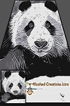 Panda SC (Single Crochet) Twin Size Blanket Graphghan Crochet Pattern - PDF Download