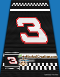 #3 Racer C2C (Corner to Corner) Throw Blanket Graphghan Crochet Pattern - PDF Download