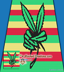 420 Peace SC (Single Crochet) Queen Blanket Graphghan Crochet Pattern - PDF Download