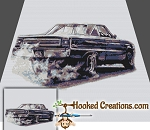 65 Plymouth GTX SC (Single Crochet) Throw Blanket Graphghan Crochet Pattern