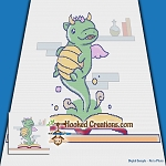 A Story About Dragons SC (Single Crochet) Throw Blanket Graphghan Crochet Pattern - PDF Download