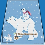 A Walk Through the Snow SC (Single Crochet) Throw Blanket Graphghan Crochet Pattern - PDF Download