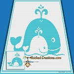 A Whale of a Time SC (Single Crochet) Throw Blanket Graphghan Crochet Pattern - PDF Download