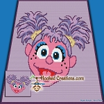 Abby Cadabby SC (Single Crochet) Baby Blanket Graphghan Crochet Pattern - PDF Download