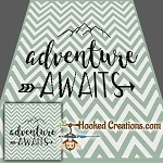 Adventure Awaits TSS (Tunisian Simple Stitch) Right Handed Throw Blanket Graphghan Crochet Pattern - PDF Download