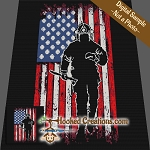 American Firefighter SC (Single Crochet) Throw Sized Blanket Graphghan Crochet Pattern - PDF Download