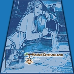 Aquarius in the Stream SC (Single Crochet) Throw Blanket Graphghan Crochet Pattern - PDF Download