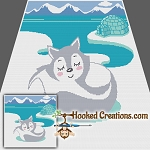 Arctic Fox SC (Single Crochet) Throw Blanket Graphghan Crochet Pattern - PDF Download