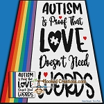 Autism Love SC (Single Crochet) Throw Blanket Graphghan Crochet Pattern - PDF Download