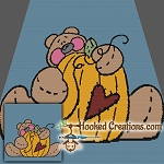 Autumn Bear SC (Single Crochet) Throw Blanket Graphghan Crochet Pattern
