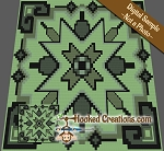 Aztec Boarders Mini C2C (Modified Corner to Corner) King Size Blanket Graphghan Crochet Pattern - PDF Download
