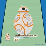 BB8 SC (Single Crochet) Throw Blanket Graphghan Crochet Pattern - PDF Download
