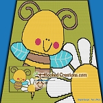Baby Buzz SC (Single Crochet) Baby Blanket Graphghan Crochet Pattern - PDF Download