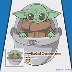 Baby Jedi Master SC (Single Crochet) Throw Blanket Graphghan Crochet Pattern - PDF Download