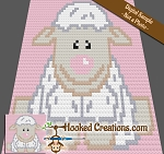 Baby Lamb C2C (Corner to Corner) Baby Blanket Graphghan Crochet Pattern - PDF Download