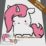 Baby Unicorn Mini C2C  (Modified Corner to Corner) Baby Blanket Graphghan Crochet Pattern - PDF Download