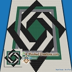 Barn Weaved C2C (Corner to Corner) Throw Blanket Graphghan Crochet Pattern - PDF Download