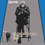 Bernie SC (Single Crochet) Throw Blanket Graphghan Crochet Pattern - PDF Download