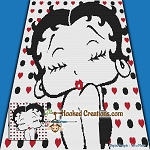 Betty Boop SC (Single Crochet) Throw Blanket Graphghan Crochet Pattern - PDF Download