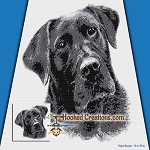 Black Lab SC (Single Crochet) Throw Blanket Graphghan Crochet Pattern - PDF Download
