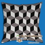 Blocky SC (Single Crochet) Throw Pillow Graphghan Crochet Pattern - PDF Download